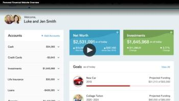 Personal FInancial Website Overview Thumbnail